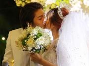 Khởi My khoá môi chồng trẻ ngọt ngào trong đám cưới