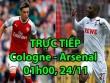 TRỰC TIẾP bóng đá Cologne - Arsenal: Ozil, Sanchez hưng phấn