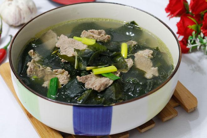 Canh rong biển thịt bò thơm ngọt, nóng hổi cho bữa cơm chiều - 10