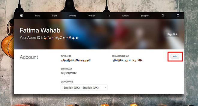 Cách thay đổi địa chỉ email đã khai báo trên Apple ID - 2