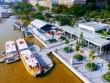 """Xe buýt"""" chạy trên nước hoạt động, người SG xếp hàng để trải nghiệm"""