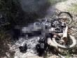 Tá hỏa phát hiện thi thể cháy đen cùng xe máy bên rẫy cà phê