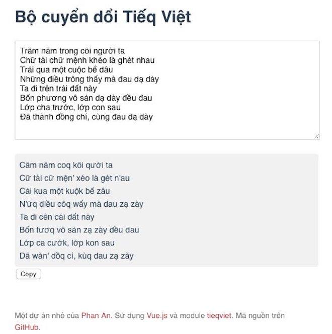 """Công cụ chuyển đổi nhanh tiếng Việt thành """"Tiếq Việt"""" - 1"""
