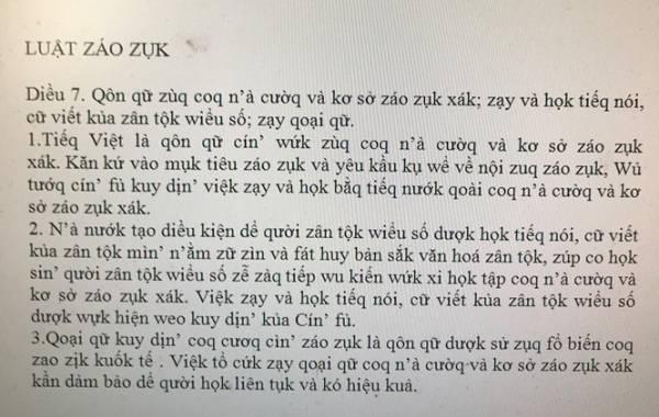 """Đề xuất """"Tiếq Việt kiểu mới"""" """"Luật záo zụk"""": Lãng phí tri thức và tiền bạc - 1"""