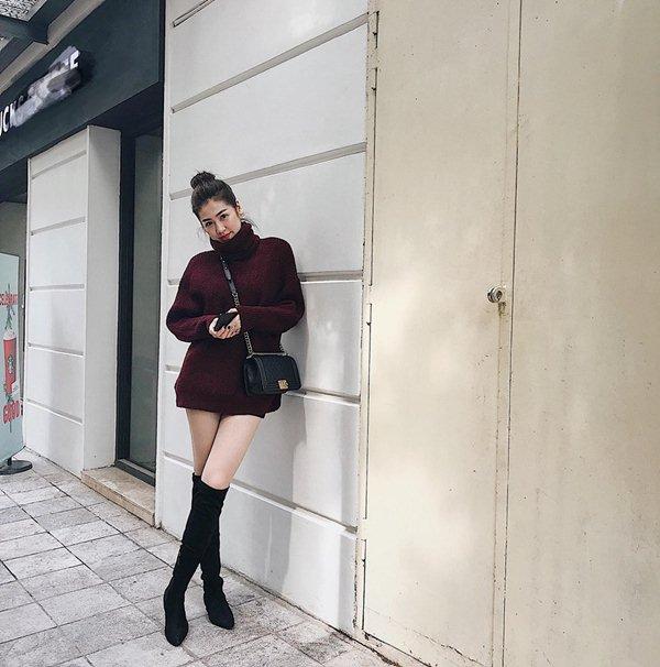 """""""Bạn gái Noo Phước Thịnh"""" chỉ thích khoe bộ phận này với đầm xẻ vô tận - 11"""