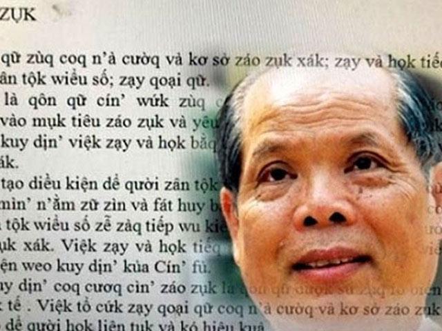 """Đề xuất """"Tiếq Việt"""" kiểu mới của PGS.Bùi Hiền: """"Dư luận đang quá đà"""""""