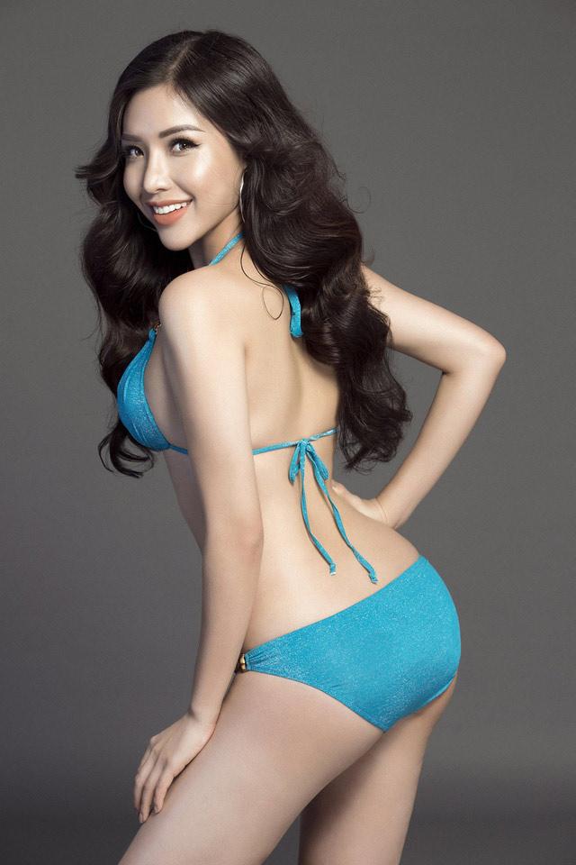 """Á hậu Việt mặc bikini lộ đường cong """"sóng lượn"""" với vòng ba 1 mét - 3"""