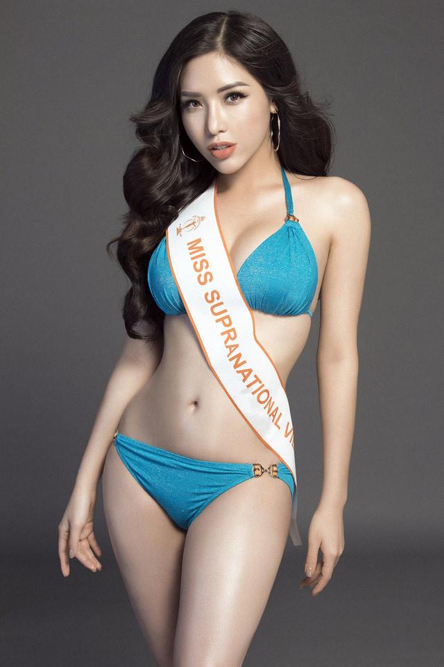 """Á hậu Việt mặc bikini lộ đường cong """"sóng lượn"""" với vòng ba 1 mét - 2"""