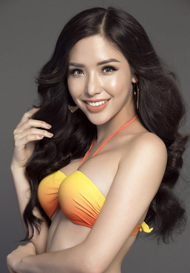 """Á hậu Việt mặc bikini lộ đường cong """"sóng lượn"""" với vòng ba 1 mét - 4"""