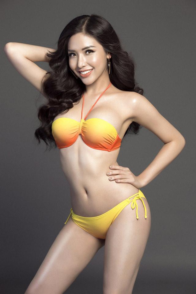 """Á hậu Việt mặc bikini lộ đường cong """"sóng lượn"""" với vòng ba 1 mét - 5"""
