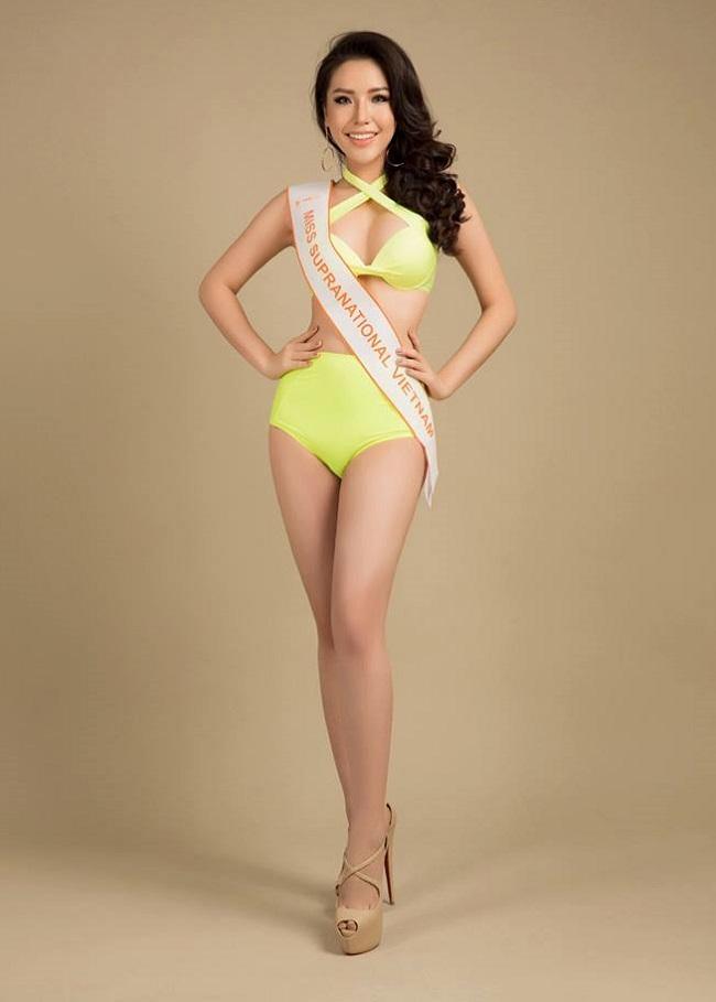 """Á hậu Việt mặc bikini lộ đường cong """"sóng lượn"""" với vòng ba 1 mét - 7"""
