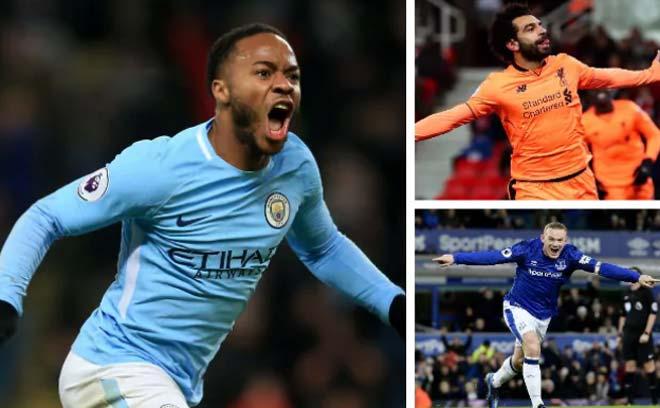 """Vua săn điểm Ngoại hạng: Sterling số 1, Rooney """"ngon"""" hơn Lukaku - 1"""