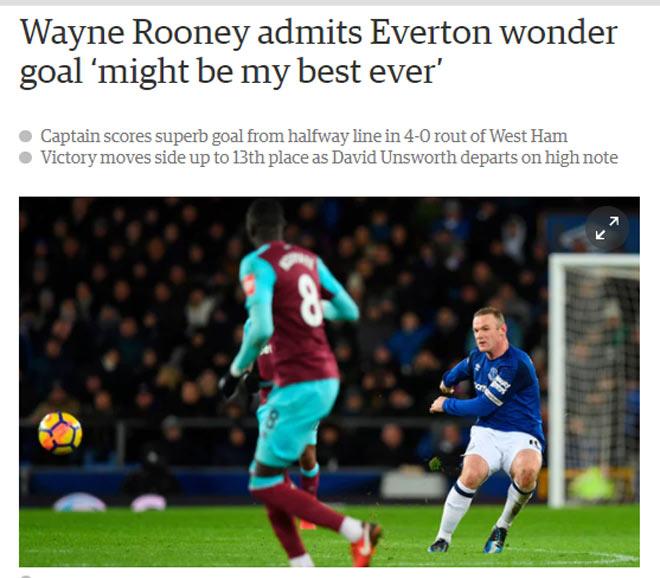 Rooney hattrick thần sầu: Báo Anh gọi là điều kì diệu, fan ngả mũ - 1