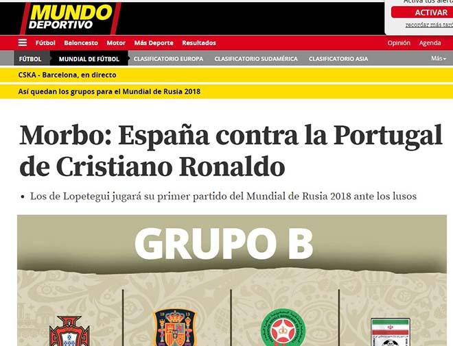 Bốc thăm World Cup: Báo Tây Ban Nha sợ Ronaldo, truyền thông Anh ngại Brazil - 5