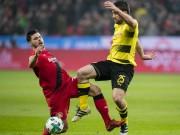 """Leverkusen - Dortmund: Thẻ đỏ tai hại,  """" rơi vàng """"  ở hiệp 2"""