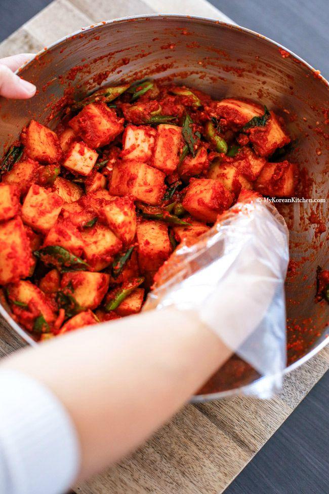 Cách làm kim chi củ cải chua chua, giòn giòn ăn gì cũng ngon - 6