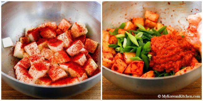 Cách làm kim chi củ cải chua chua, giòn giòn ăn gì cũng ngon - 5