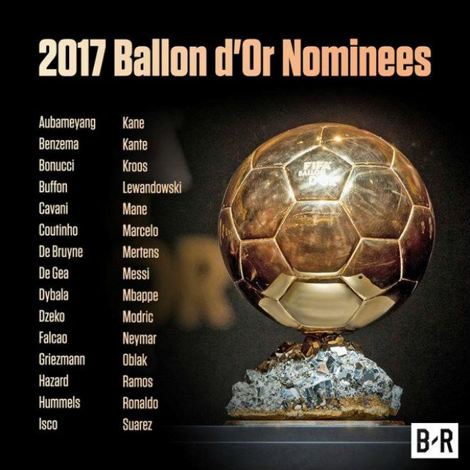 """Quả bóng Vàng 2017: """"Siêu nhân"""" Ronaldo và ngôi sao 5 cánh lấp lánh - 15"""