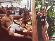 DJ Myno hở bạo, hâm nóng tình cảm với chồng cầu thủ tại biển Bali