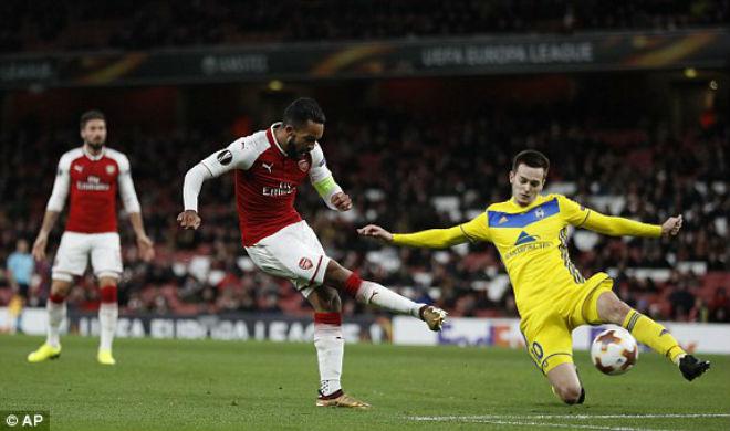 """Arsenal - BATE Borisov: """"Bắn phá"""" tưng bừng, xả hận thua MU - 1"""
