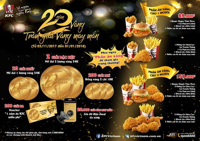 Kỉ niệm 20 năm vàng, KFC gởi ngàn tri ân đến khách hàng - 3