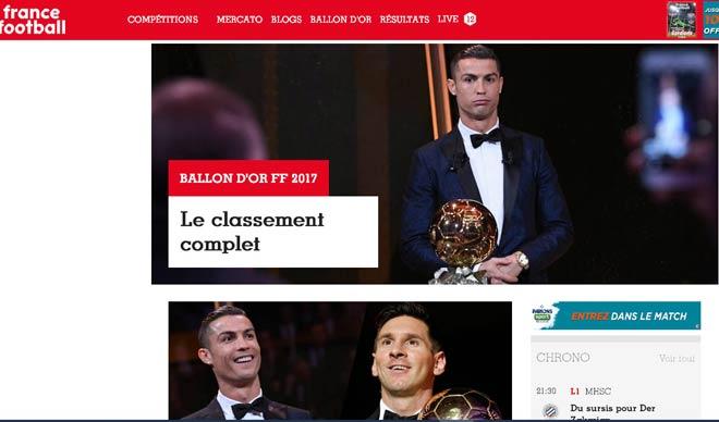 """Báo chí thế giới """"quỳ rạp"""" trước Ronaldo 5 Quả bóng Vàng - 1"""