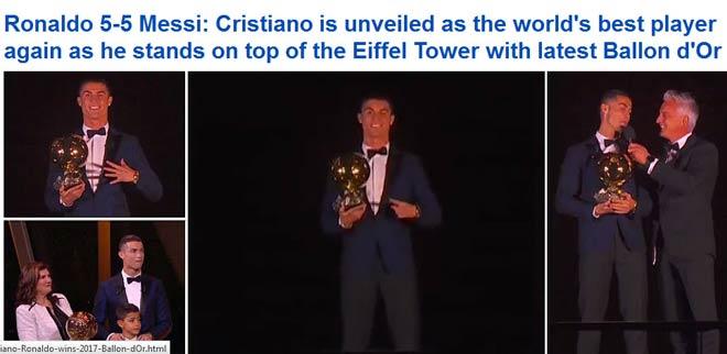 """Báo chí thế giới """"quỳ rạp"""" trước Ronaldo 5 Quả bóng Vàng - 4"""