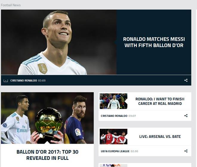 """Báo chí thế giới """"quỳ rạp"""" trước Ronaldo 5 Quả bóng Vàng - 8"""