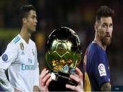 Điểm số bầu Quả bóng Vàng 2017: Ronaldo vượt trội Messi, gần gấp 3 Neymar