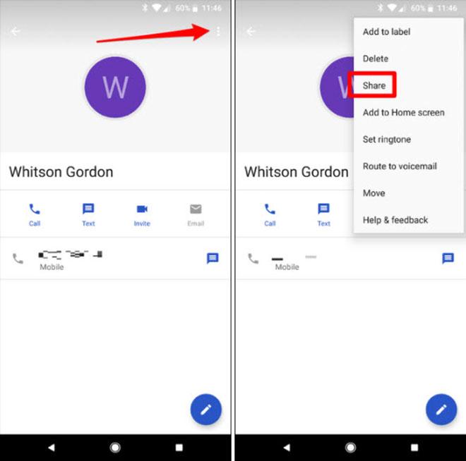 Cách chia sẻ danh bạ qua tin nhắn SMS trên Android - 2