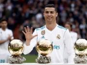 Bóng đá - Ronaldo mừng bóng Vàng, ghi cú đúp & chạm mốc 50