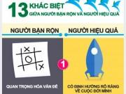 Infographic: 13 khác biệt giữa người bận rộn và người hiệu quả