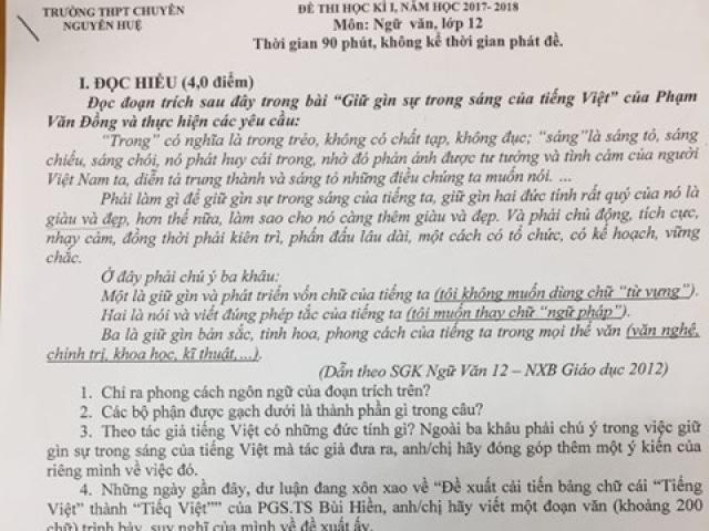 Đưa đề xuất cải tiến chữ của PGS.TS Bùi Hiền vào đề thi lớp 12 là sự bất kính? - 2