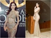 Hoa hậu Đại Dương hết môi tều, diện váy xuyên thấu đi xem thời trang