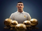 Chân sút hay nhất châu Âu: Ronaldo 5 Bóng vàng  mất hút , Messi quá đỉnh