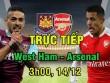 TRỰC TIẾP West Ham - Arsenal: Tấn công dồn dập, quyết săn bàn hiệp 2