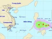 Bão KAI-TAK giật cấp 10 uy hiếp Biển Đông