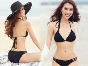 Eo chỉ 55cm, còn ai mặc bikini đẹp hơn hoa hậu Việt này?