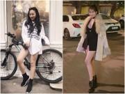 """Các nữ DJ Việt cùng nhau lăng xê mốt thời trang  """" không quần """"  ra phố"""