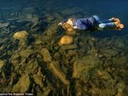 """Hồ nước đóng băng phát ra tiếng kêu như  """" người ngoài hành tinh """""""