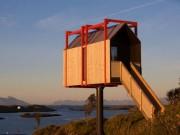 Khách sạn có kiến trúc độc đáo trên hòn đảo hẻo lánh ở Na Uy