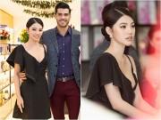 Jolie Nguyễn diện váy trễ nải, sánh đôi cùng Nam vương Quốc tế