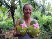 Bỏ ăn, bỏ ngủ ngồi trên cây, U60  ' nặn '  dừa hồ lô lạ mắt bán Tết 2018