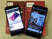 Philips tung bộ đôi smartphone màn hình 2.5D tràn viền, giá rẻ