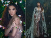 Hà Hồ đẹp tựa nữ thần với váy ren lưới nghìn lỗ
