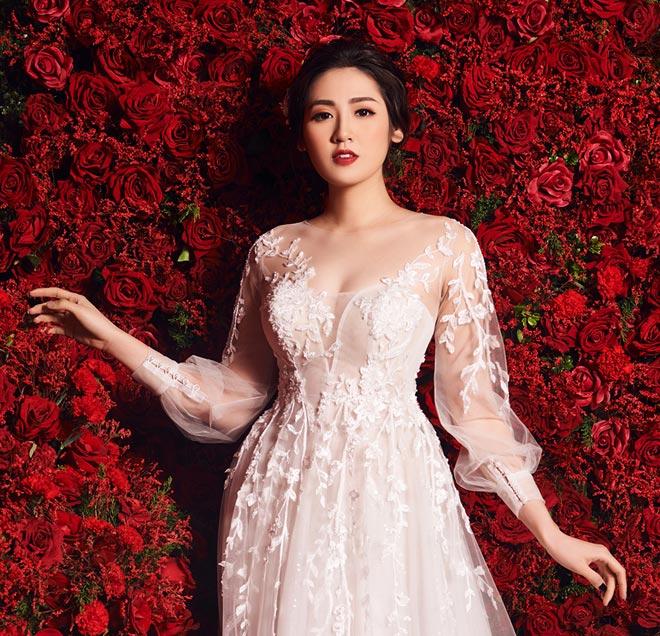 """""""Bạn gái Noo Phước Thịnh"""" mặc váy cưới 3 tỷ đồng - 8"""