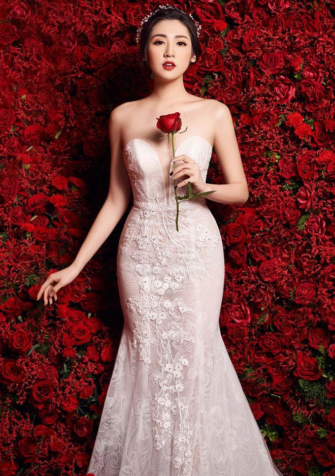 """""""Bạn gái Noo Phước Thịnh"""" mặc váy cưới 3 tỷ đồng - 9"""