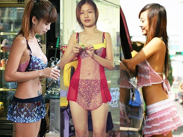Các cô gái bán trầu cau lề đường ở Đài Loan mặc kiệm vải táo bạo