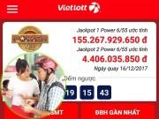 Tin tức trong ngày - Xổ số Vietlott: Hôm nay, jackpot 1 của Power 6/55 sẽ lập kỷ lục 160 tỉ