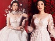 """"""" Bạn gái Noo Phước Thịnh """"  mặc váy cưới 3 tỷ đồng"""